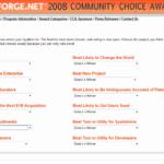 Sourceforge.NETでコミュニティ・チョイス・アワード2008を開催中