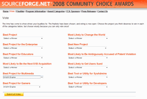 Sourceforge.NET 2008 Community Choice Awards