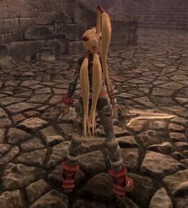 X-Blades、Ayumiの髪形が崩れるバグ