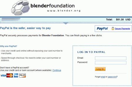 PayPalの初期画面