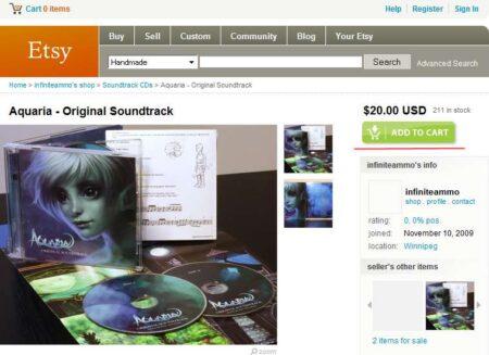 Aquaria OST 商品画面