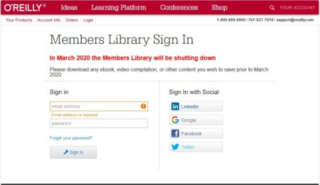In March 2020 the Members Library will be shutting down