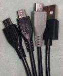 データ&充電用三又USBケーブル 端子部分